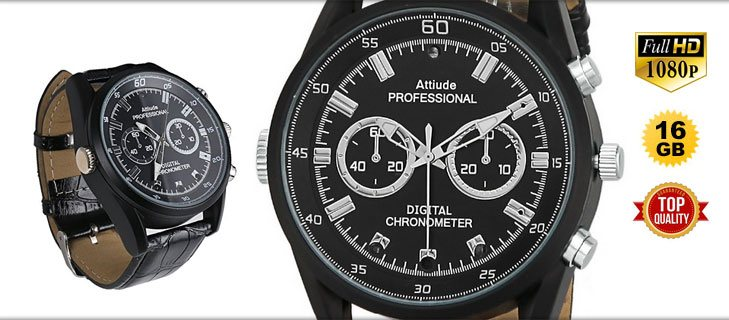 Spy P Full Telecamera New Watch Orologio Infrarossi Con A Hd Spia GqVzpSUM
